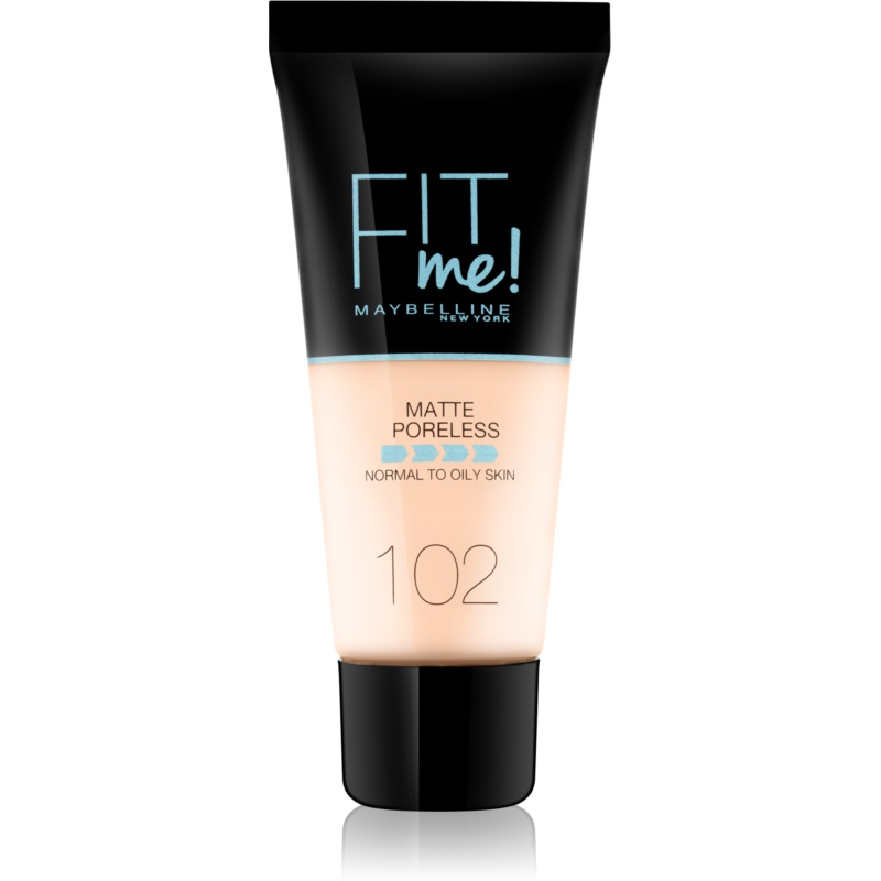 Maybelline Fit Me! Matte+Poreless machiaj mat pentru piele normală și grasă culoare 102 Fair Ivory 30 ml thumbnail