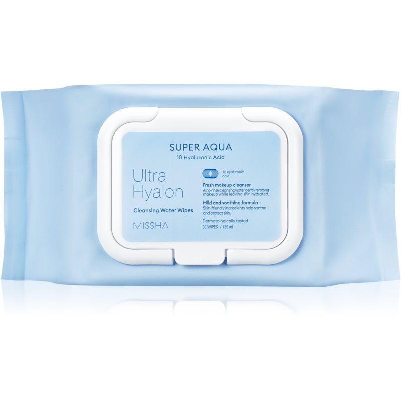 Missha Ultra Hyalon кърпички за почистване на грим с хиалуронова киселина 30 бр.