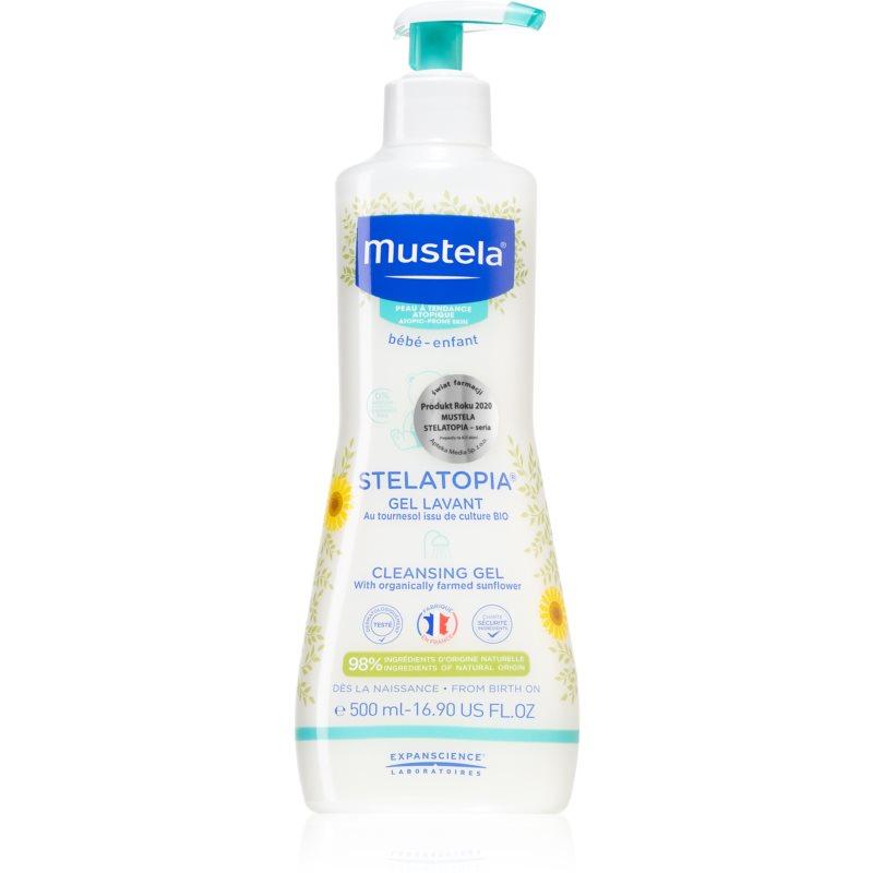 Mustela Bébé Stelatopia čisticí a mycí gel pro děti a miminka pro suchou až atopickou pokožku 500 ml