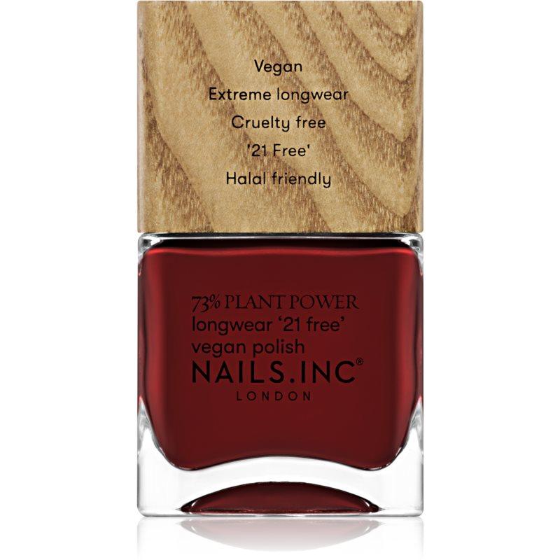 Nails Inc. Vegan Nail Polish dlouhotrvající lak na nehty odstín Swear By Salutation 14 ml