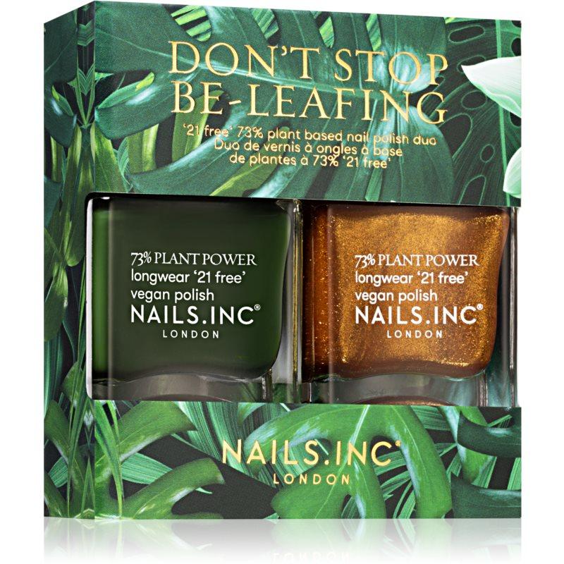Nails Inc. Don't Stop Be-Leafing výhodné balení (na nehty)
