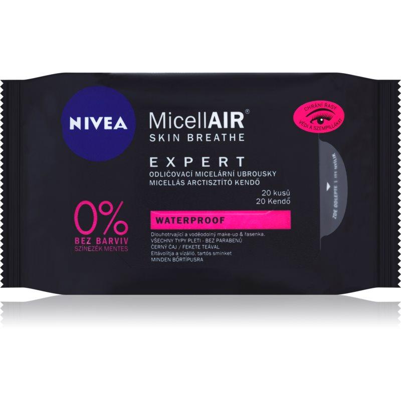 Nivea MicellAir Expert мицеларни кърпички за почистване на грим 20 бр.