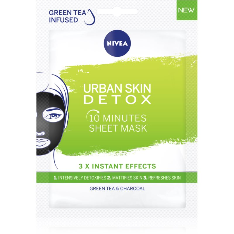 Nivea Urban Skin Detox čistiaca a detoxikačná maska s aktívnym uhlím