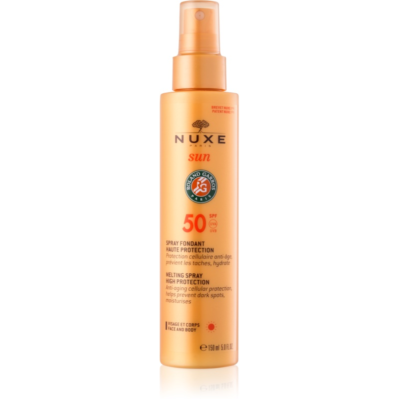 Nuxe Sun Melting Spray For Face And Body Spf 50