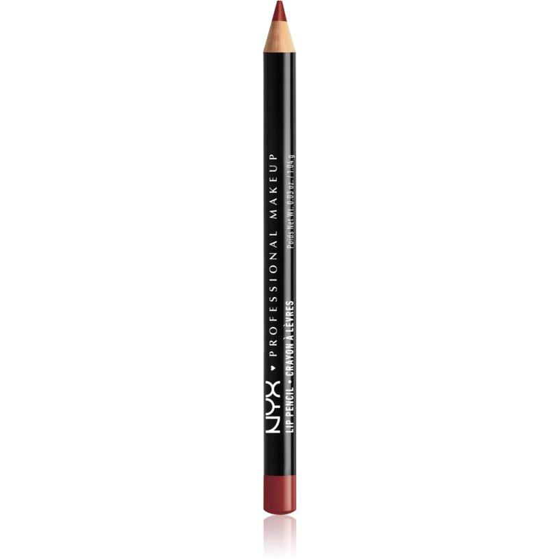 NYX Professional Makeup Slim Lip Pencil creion de buze cu trasare precisă culoare Auburn 1 g thumbnail