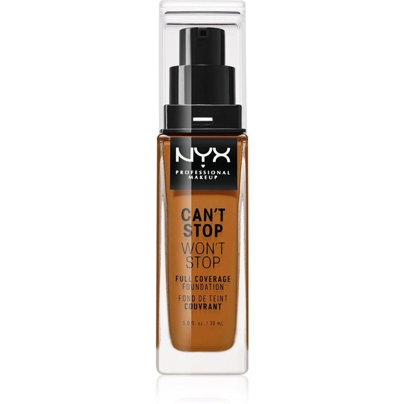 NYX Professional Makeup Can't Stop Won't Stop Magas fedésű alapozó árnyalat 19 Mocha 30 ml