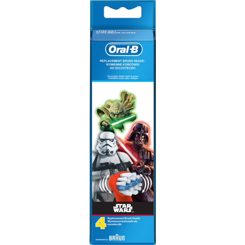 Oral B Stages Power EB10 Star Wars Replacement Heads For Toothbrush 4 pcs Extra Soft thumbnail