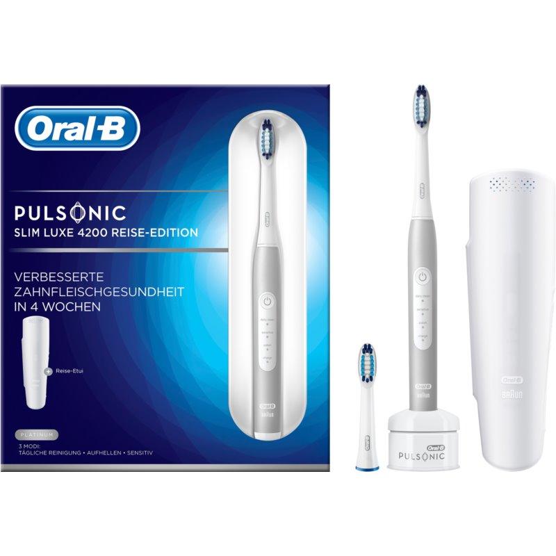 Oral B Pulsonic Slim Luxe 4200 Platinum escova de dentes sónica S411.523.3X