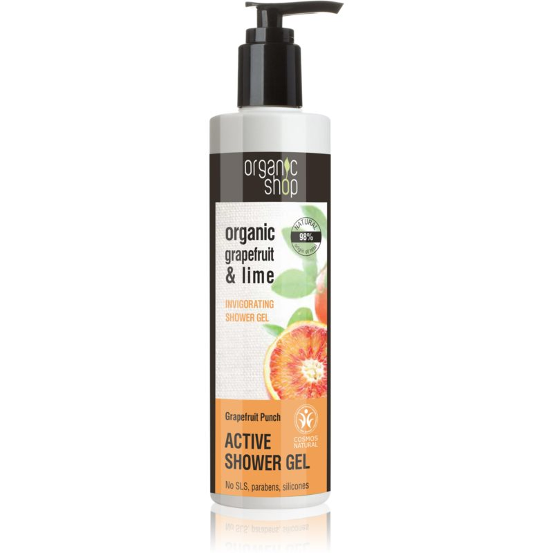 Organic Shop Organic Grapefruit & Lime активен душ-гел 280 мл.