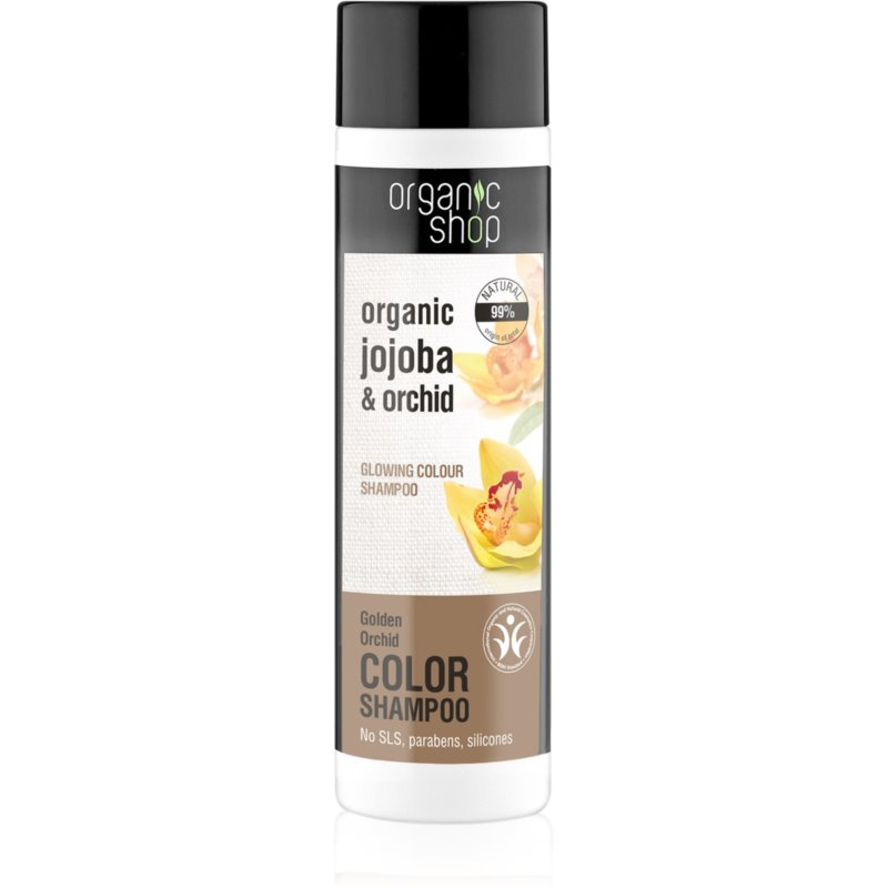 Organic Shop Organic Jojoba & Orchid изглаждащ шампоан за подчертаване на цвета на косата 280 мл.