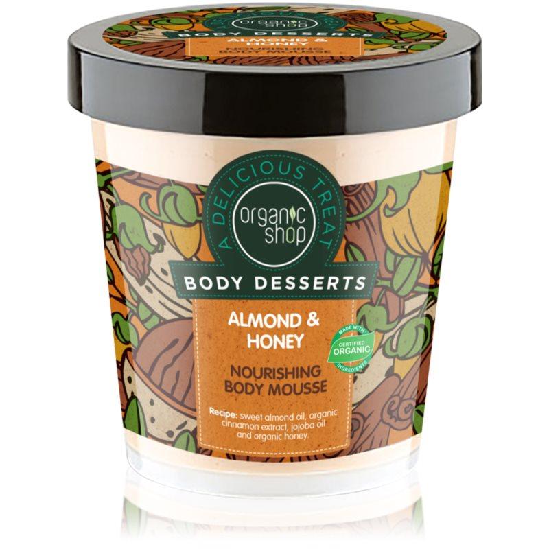 Organic Shop Body Desserts Almond & Honey пяна за тяло за подхранване и хидратация 450 мл.