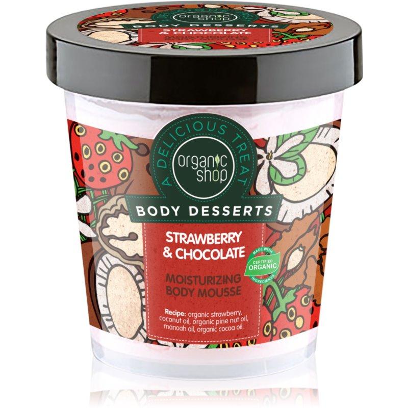 Organic Shop Body Desserts Strawberry & Chocolate пяна за тяло с хидратиращ ефект 450 мл.