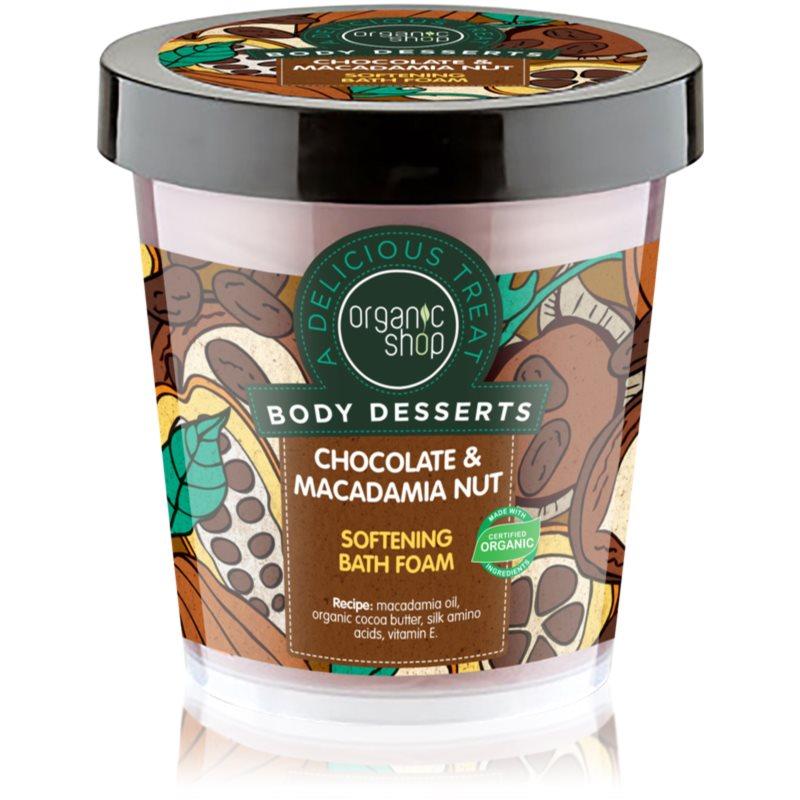 Organic Shop Body Desserts Chocolate & Macademia Nut омекотяваща пяна за вана 450 мл.