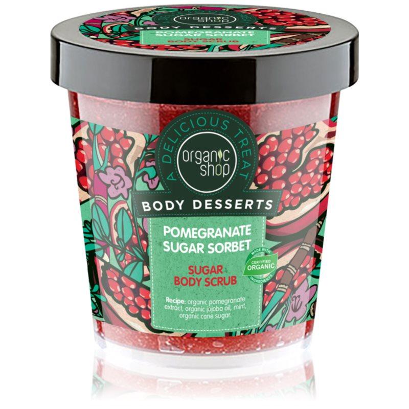 Organic Shop Body Desserts Pomegranate освежаващ захарен пилинг за тяло 450 мл.