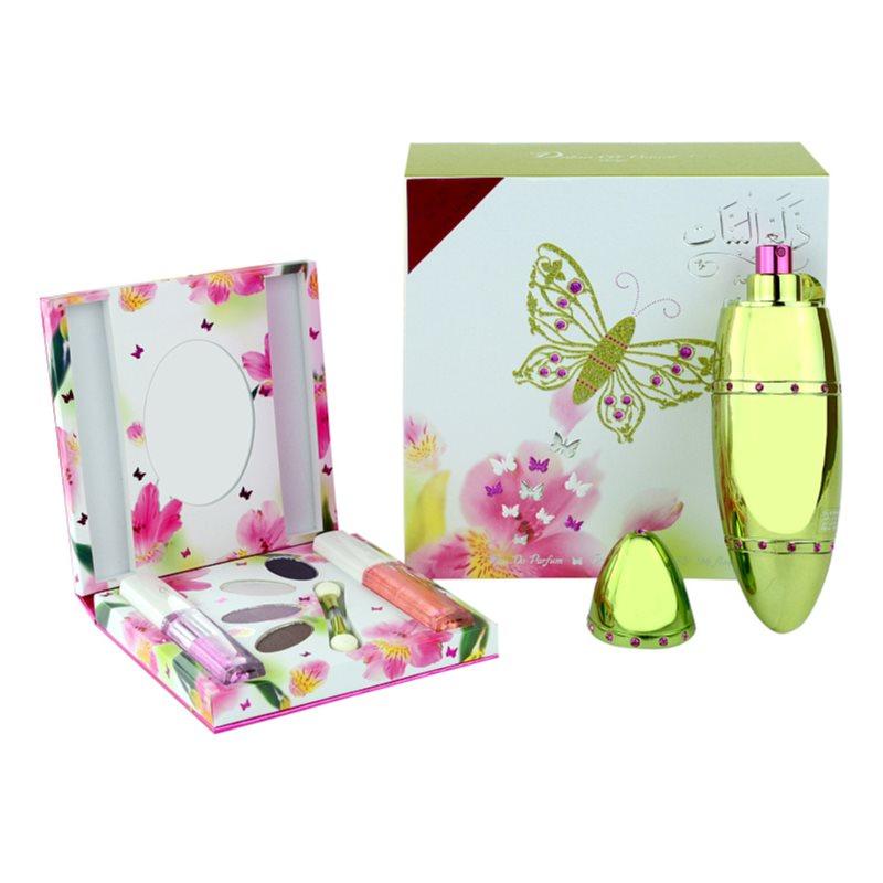 Rasasi Al Banat Bheja eau de parfum + szemhéjfesték + szemhéjtus + ajakfény hölgyeknek 50 ml