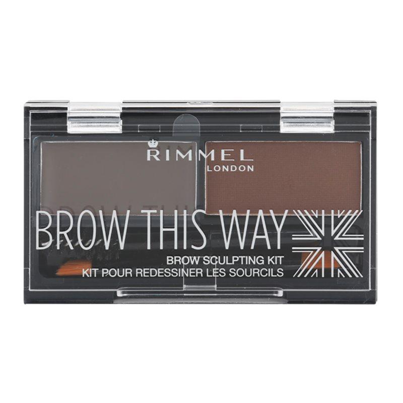 Rimmel Brow This Way paleta pentru machiaj sprancene culoare Dark Brown 2,4 g thumbnail