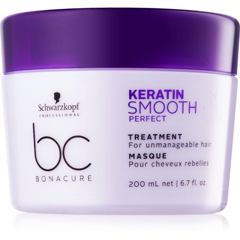 Schwarzkopf Professional BC Bonacure Keratin Smooth Perfect mascarilla para cabello encrespado y rebelde 200 ml