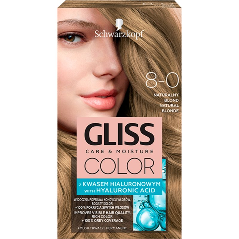 Schwarzkopf Gliss Color hajfesték árnyalat 8-0 Natural Blonde