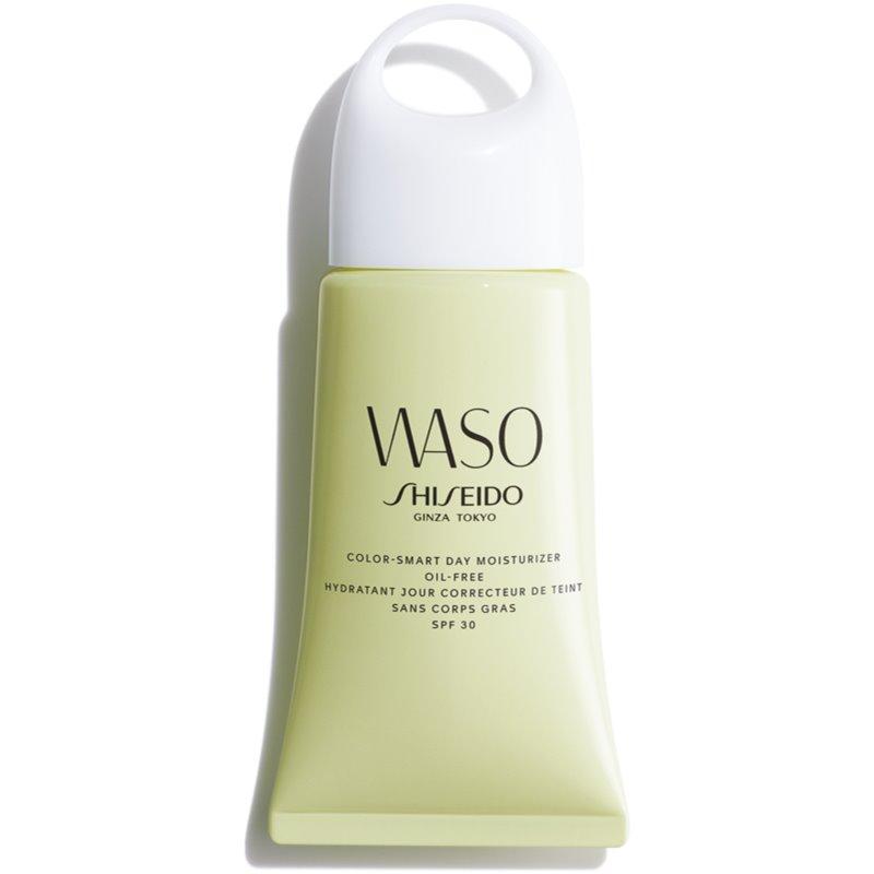 Shiseido Waso Color-Smart Day Moisturizer хидратиращ дневен крем за уеднаквяване цвета на кожата не съдържа олио SPF 30 50 мл.