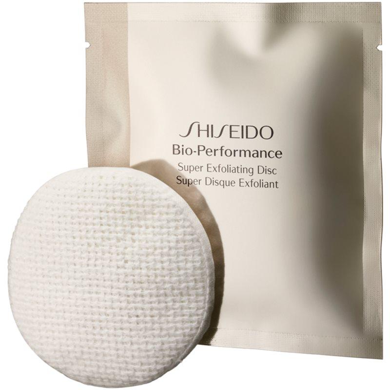 Shiseido Bio-Performance Super Exfoliating Disc discos de limpeza esfoliantes para rejuvenescimento da pele 8 un.