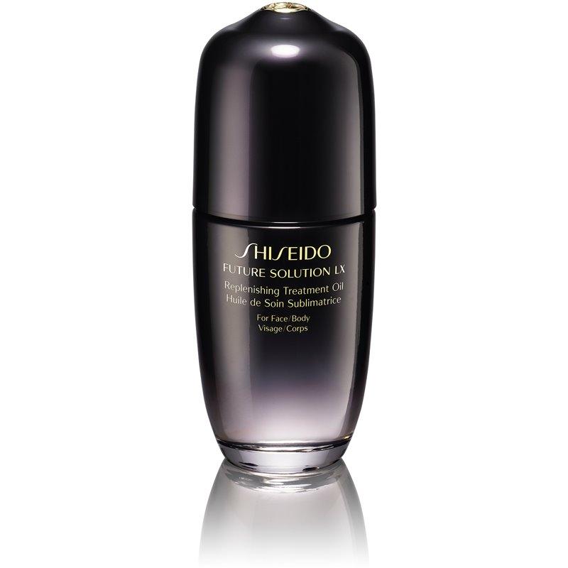 Shiseido Future Solution LX Replenishing Treatment Oil ošetrujúci olej na telo a tvár 75 ml