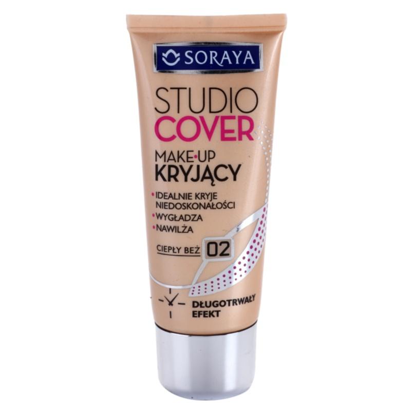 Soraya Studio Cover фон дьо тен с витамин Е цвят 02 Warm Beige 30 мл.