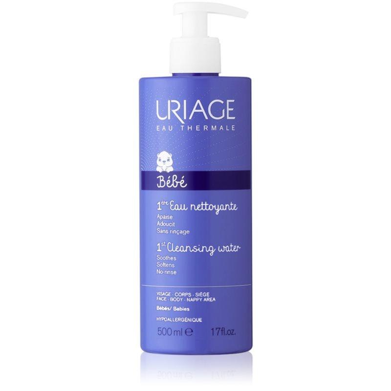 Uriage Bébé água para limpeza suave para rosto e corpo 500 ml