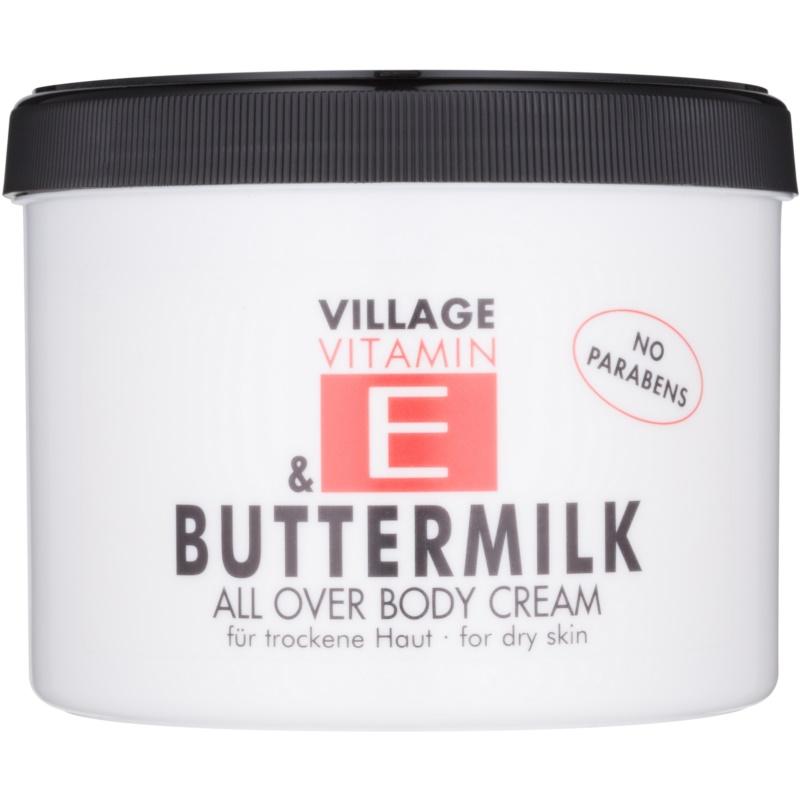 Village Vitamin E Buttermilk крем за тяло без парабени 500 мл.