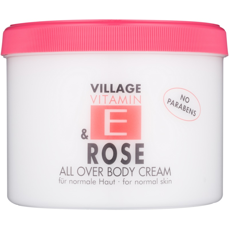Village Vitamin E Rose крем за тяло без парабени 500 мл.
