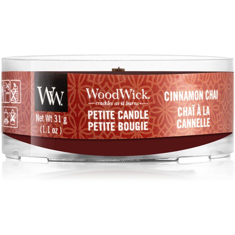 Woodwick Cinnamon Chai вотивна свічка з дерев'яним гнітом