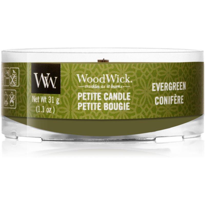 Woodwick Evergreen вотивна свічка з дерев'яним гнітом