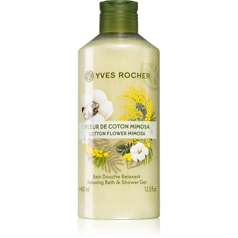 Yves Rocher Cotton Flower Mimosa sprchový gél 400 ml