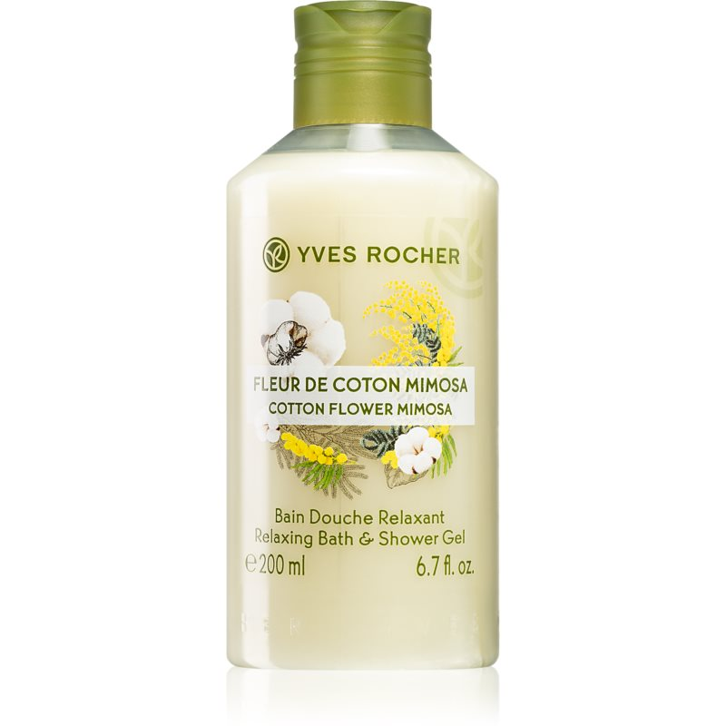 Yves Rocher Cotton Flower Mimosa sprchový gél 200 ml
