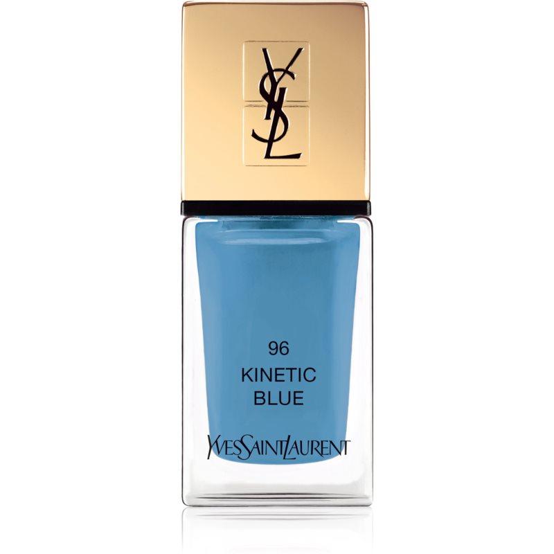 Yves Saint Laurent La Laque Couture lak na nechty odtieň 96 Kinetic Blue 10 ml