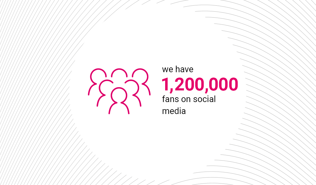 1 000 000 followers on our social media