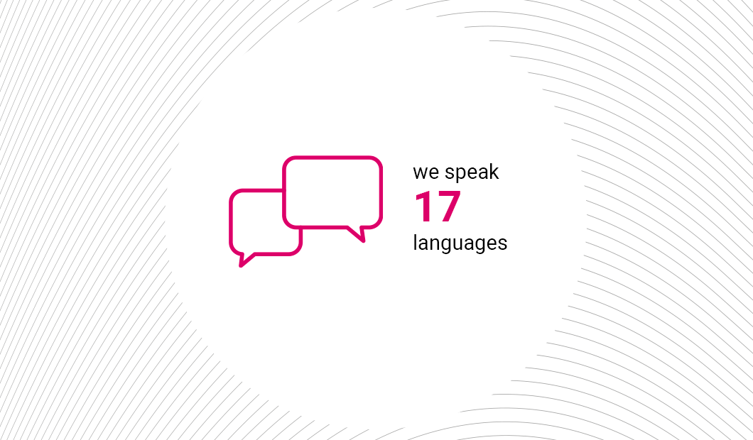 We speak 17 languages