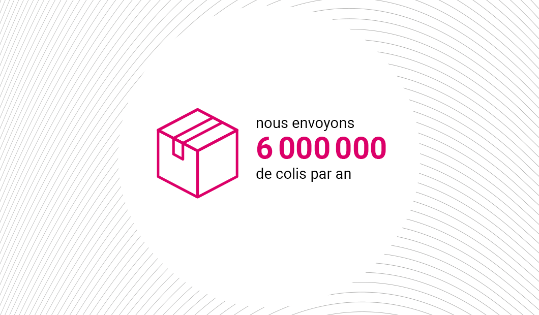6 000 000 parcels per year