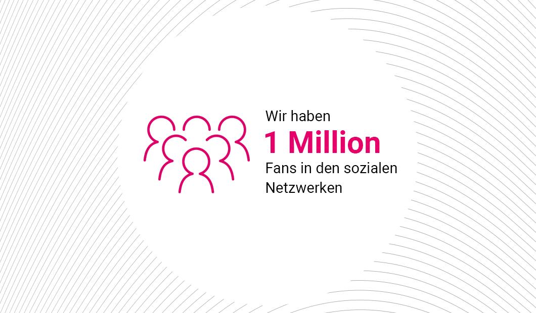 1 000 000 followers on our social media