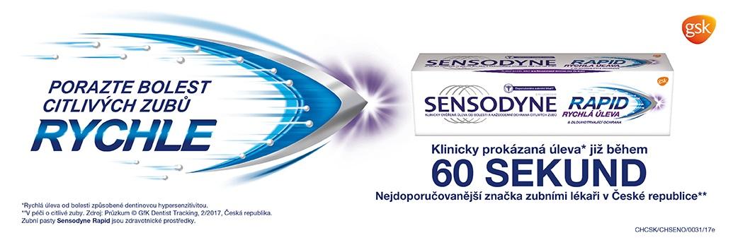 Sensodyne zubní pasta 60 sekund