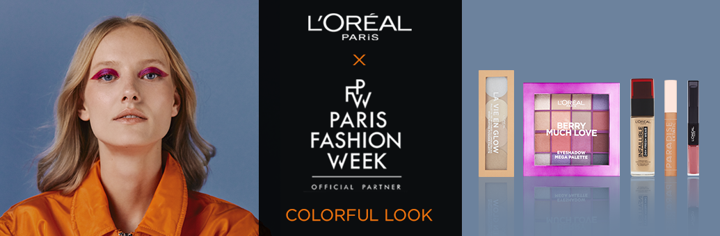 Loreal Paris colorful look