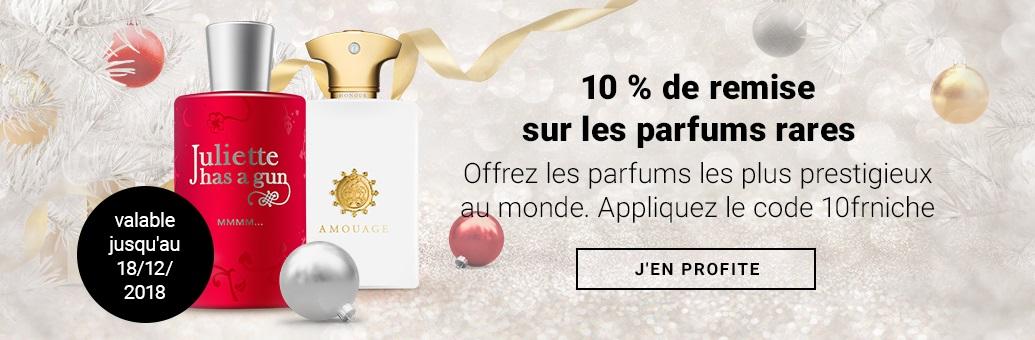 10 % de remise sur les parfums rares