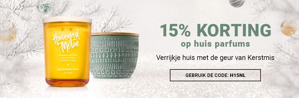 15% korting op alle huisparfums!