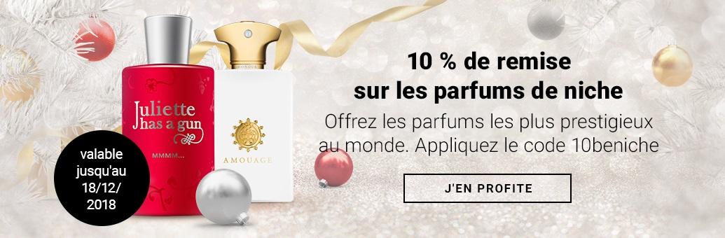 10 % de remise sur les parfums de niche