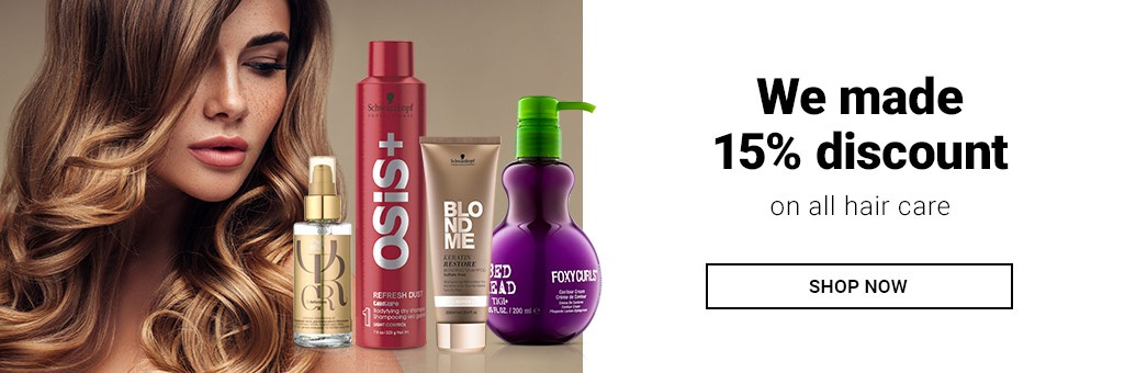 15% off all hair care