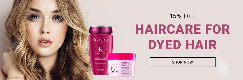 15% off coloured hair care