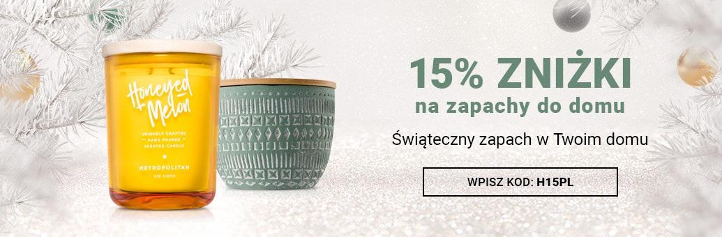 15% zniżki na wszystkie zapachy do domu!