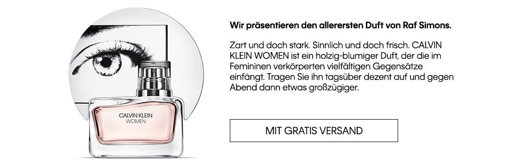 Calvin Klein Women - landing page flacon
