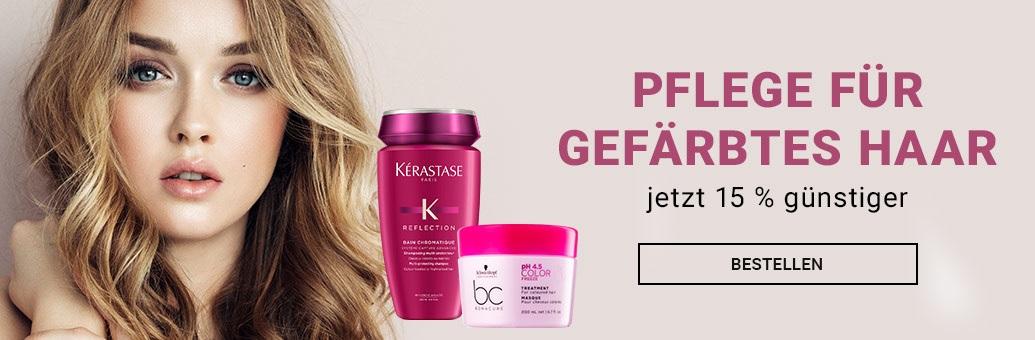 15 % auf Pflege für gefärbtes Haar