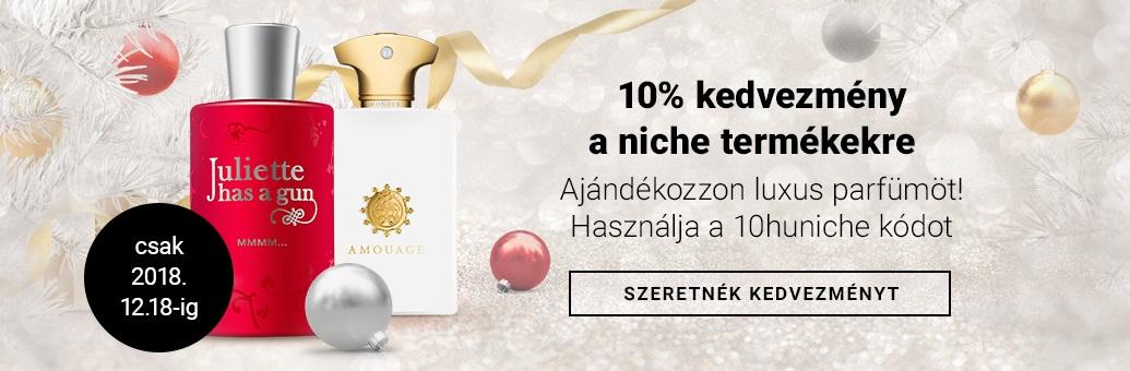 10% kedvezmény a niche termékekre