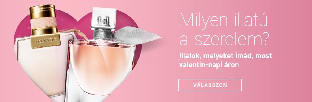 Valljon szerelmet egy parfümmel! gravírozás 50% kedvezménnyel válasszon